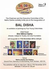 Bal Disha - Exhibition of Paintings by four child artists at Nehru Centre, Mumbai