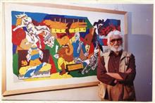 M F Husain show presented by Indiaart Gallery