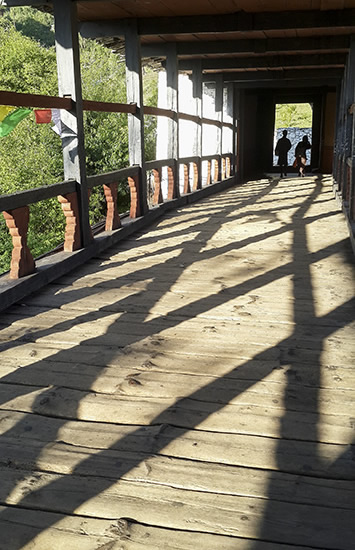 Shadows at Paro dzong